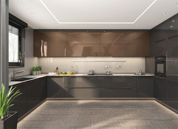 high gloss agt panel mutfak dolabı